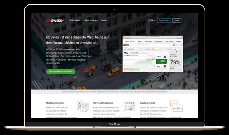 BDSwiss Startseite und Handelsplattform