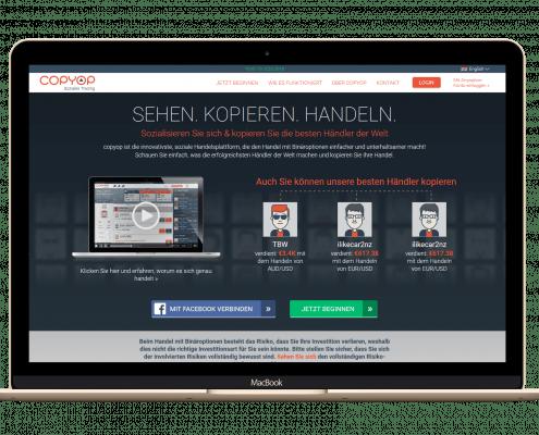 CopyOp - Startseite-und-Handelsplattform