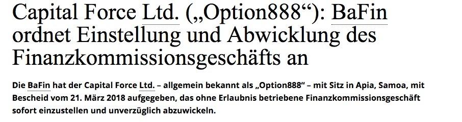 Option888 Erfahrungsberichte