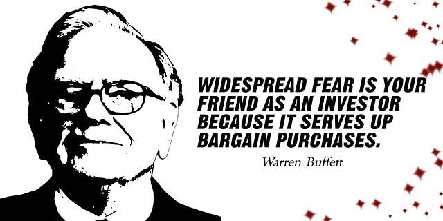 Investieren lernen - Warren Buffett Leitspruch