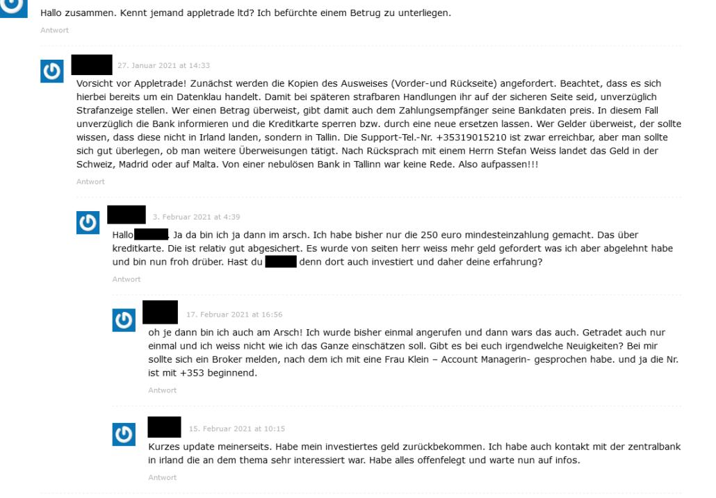 Appletrade Broker Kritik